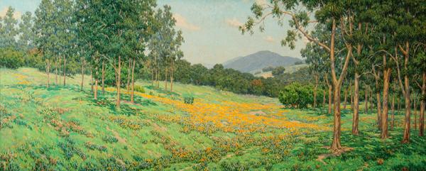 Golden Morrow Poppy Field - Granville Redmond