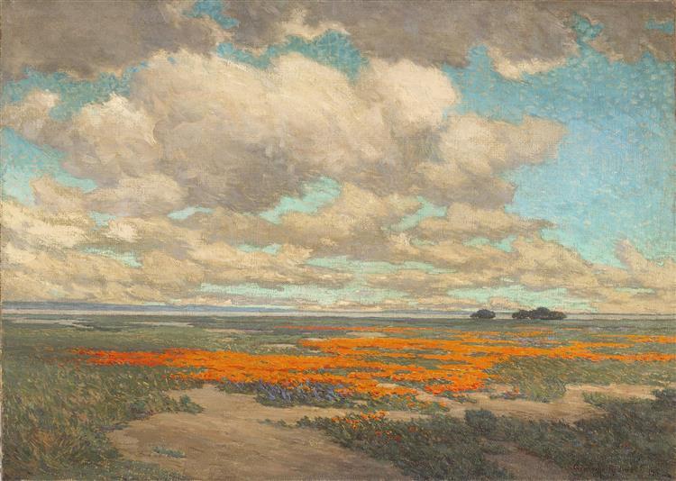 A Field of California Poppies - Granville Redmond