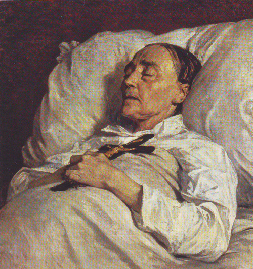 Portrait of Madame Mazois on her Deathbed - Henri Regnault
