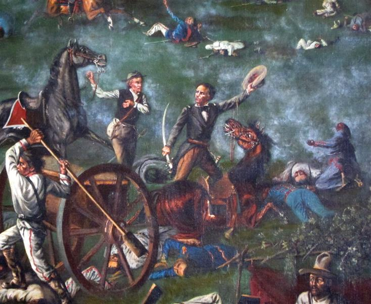 Sam Houston at the Battle of San Jacinto (detail), 1898 - Henry Arthur McArdle