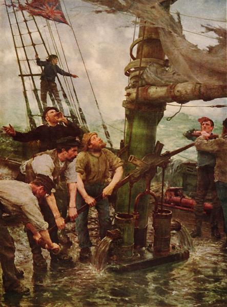 All Hands To The Pump - Henry Scott Tuke