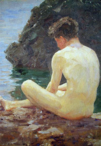July Sun, 1913 - Henry Scott Tuke