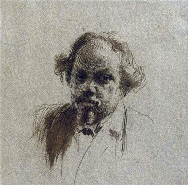 Portrait of Anton Mitov - Ivan Mrkviсka