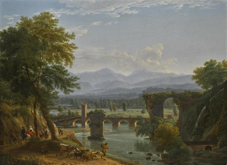 The Augustus Bridge over the River Nera, near the City of Narni, Italy - Jean-Joseph-Xavier Bidauld