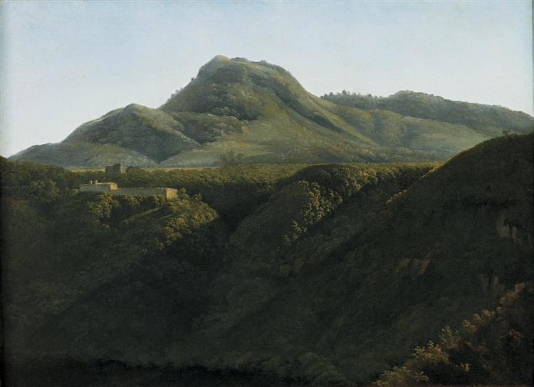 Sunrise on An Italian Landscape - Jean-Joseph-Xavier Bidauld