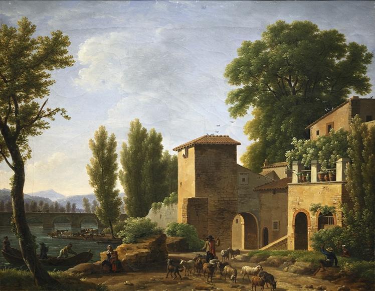 Paysage Classique Avec Figures - Jean-Joseph-Xavier Bidauld