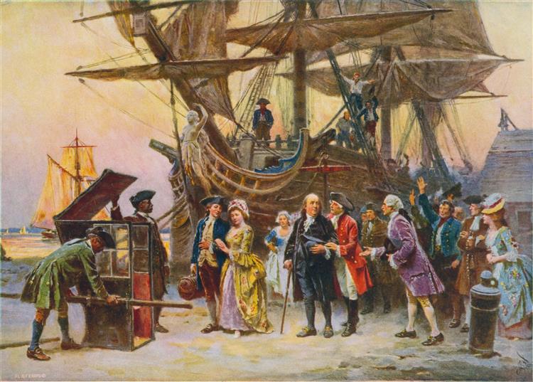 Franklin's Return to Philadelphia, 1785 - Jean Leon Gerome Ferris