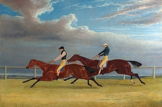 Finish of the 1827 St Leger. Matilda Beats Mameluke, 1827 - John Frederick Herring senior