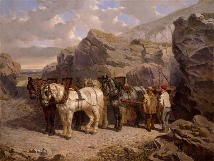 The Quarry, 1858 - John Frederick Herring Sr.