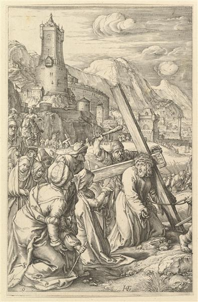 Christ Carrying the Cross, c.1594 - c.1598 - Hendrick Goltzius