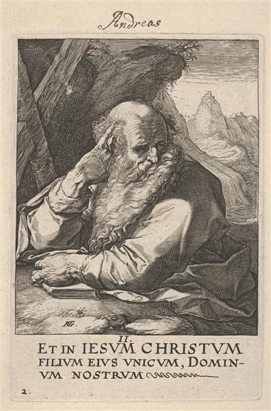 St. Andrew, c.1589 - Hendrick Goltzius