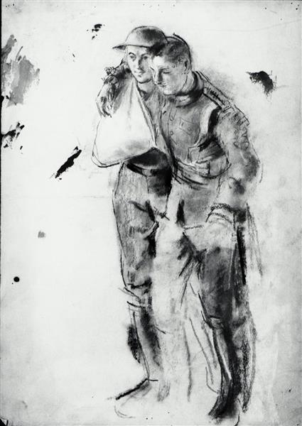 Two Wounded Soldiers - Henry Tonks