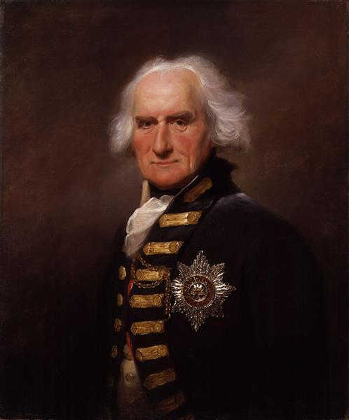 Portrait of Alexander Hood, 1st Viscount Bridport - Lemuel Francis Abbott