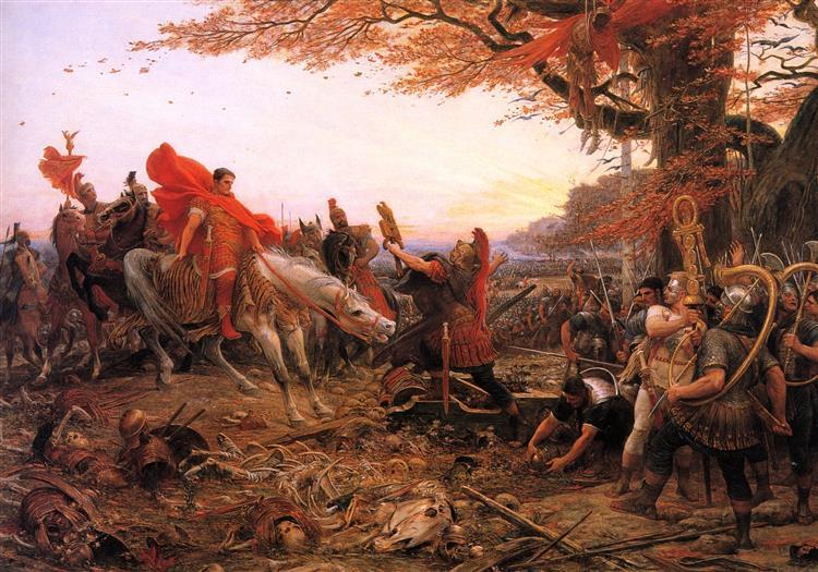 Germanicus Devant Les Restes Des Légions De Varus, 1896 - Lionel Noel Royer