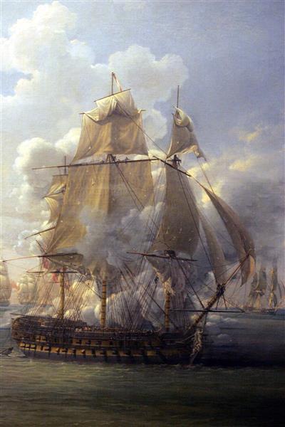 Combat De La Poursuivante Contre L'hercule, 1803 - Луи-Филипп Крепен