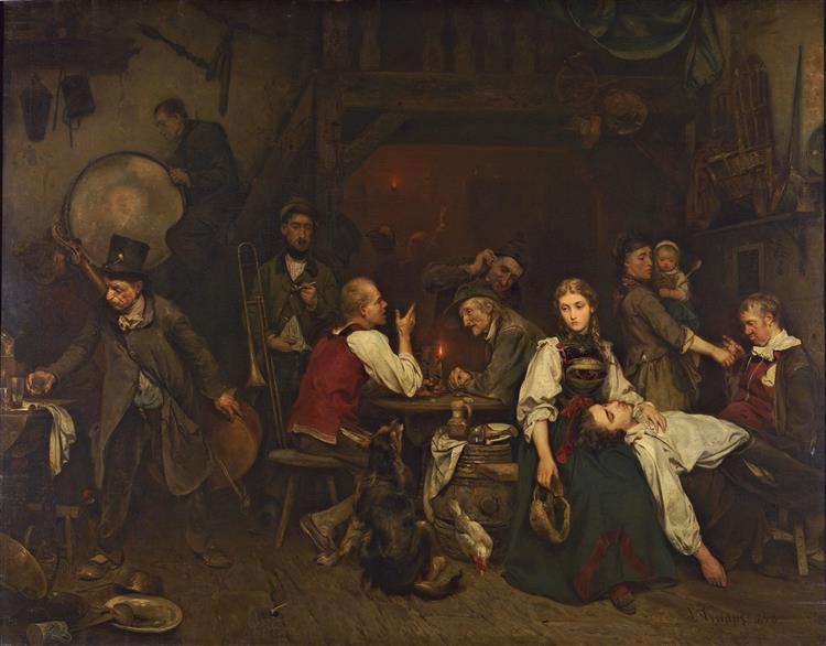 Der Morgen Nach Der Feier, 1853 - Ludwig Knaus