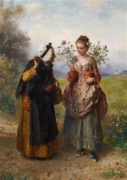 Thorns and Roses, 1875 - Ludwig Knaus