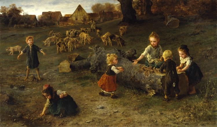 Mud Pies, 1873 - Ludwig Knaus