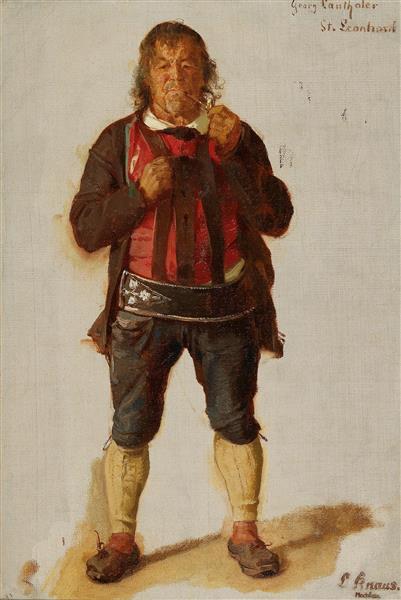 Portrait of Georg Lanthaler, St. Leonhard - Ludwig Knaus