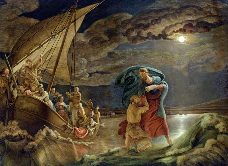 Peter Walks on Water, 1806 - Філіпп Отто Рунге