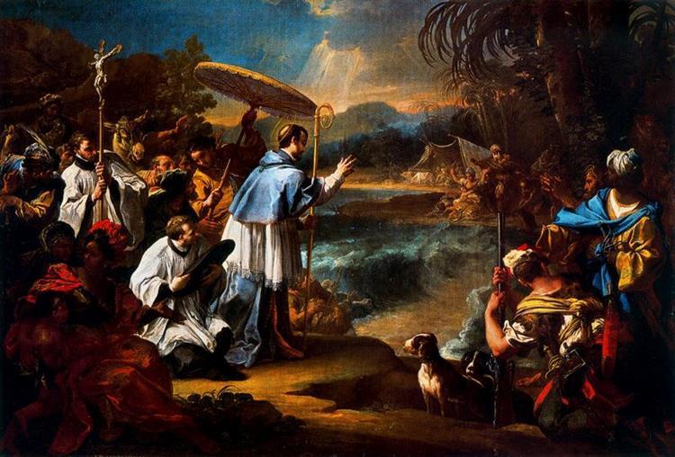 Milagro De Santo Toribio, 1726 - Себастьяно Конка