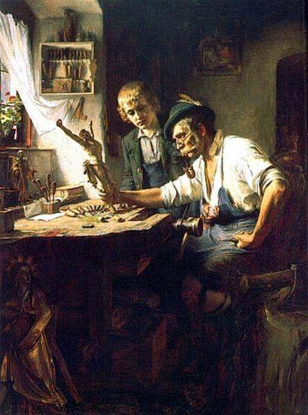 Woodcarver of Obermmergau, 1891 - Toby Edward Rosenthal