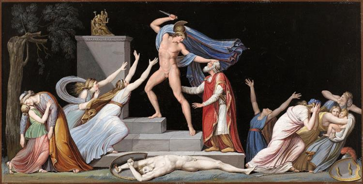 The Death of Priam - Vincenzo Camuccini