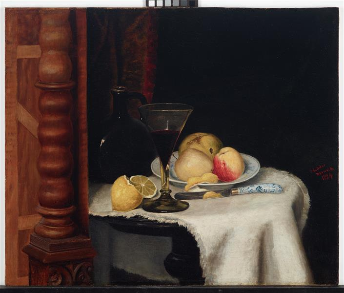 Still Life with Fruit, 1884 - William Henry Huddle