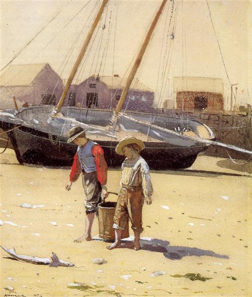 Basket of Clams - Winslow Homer