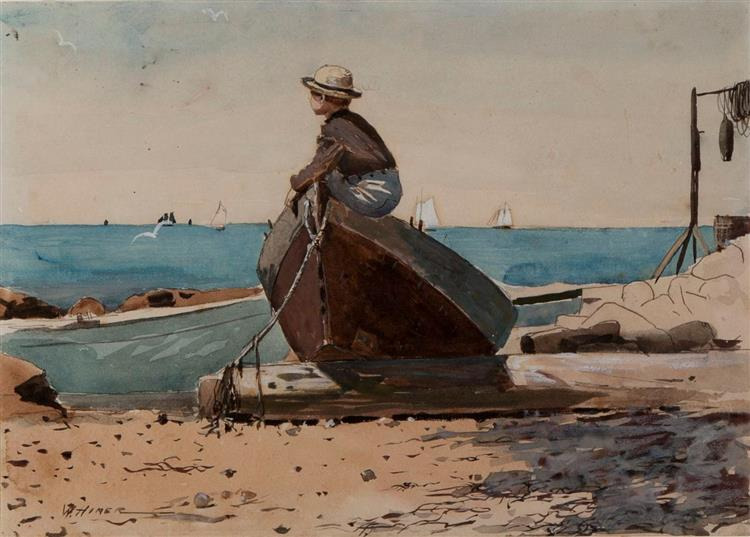 Waiting for Dad - Winslow Homer