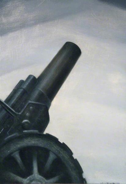 A Howitzer Gun in Elevation, 1917 - C. R. W. Nevinson