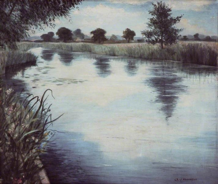 A River in England, 1944 - C. R. W. Nevinson