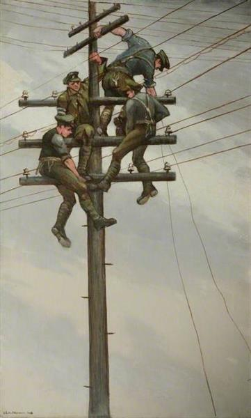 Nerves of the Army, 1918 - C.R.W. Nevinson
