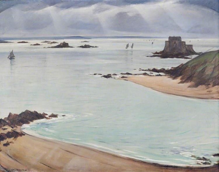 St Malo, France - C. R. W. Nevinson