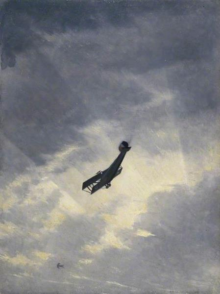 Swooping Down on a Hostile Plane, 1917 - C.R.W. Nevinson