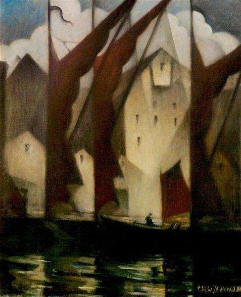Thameside, 1941 - C. R. W. Nevinson