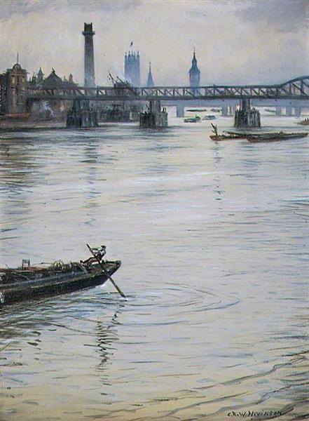 The Temporary Waterloo Bridge, London, 1938 - C. R. W. Nevinson
