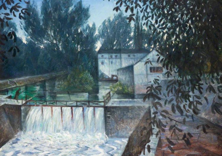 The Weir, Charenton, c.1900 - C. R. W. Nevinson