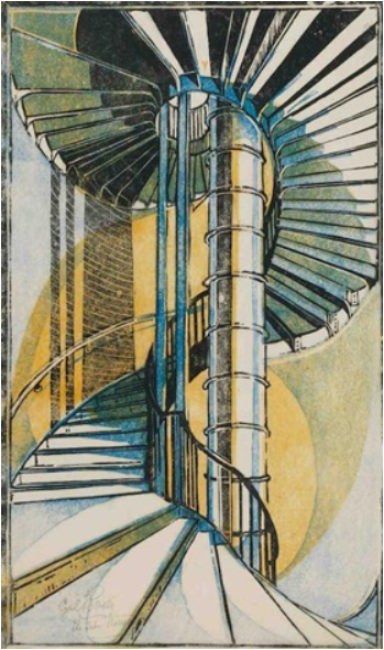 The Tube Staircase, 1929 - Cyril Power