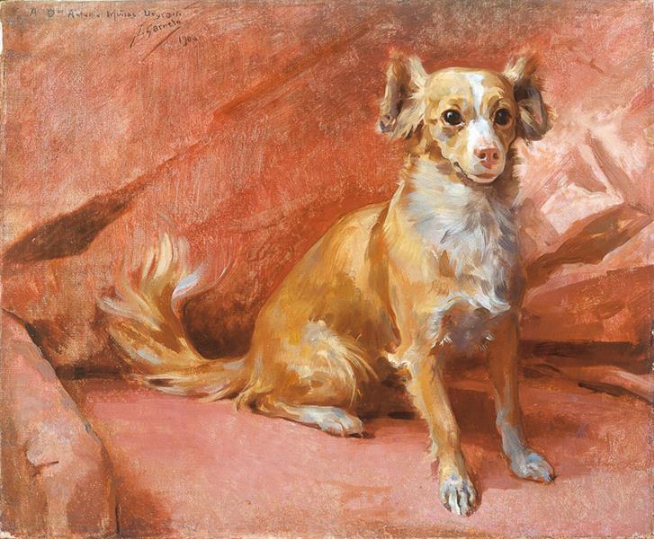 El Perro del Pintor, 1915 - José Santiago Garnelo y Alda