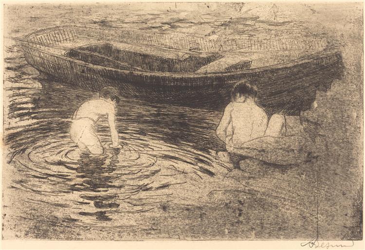 Bathing at Talloires, 1888 - Paul-Albert Besnard