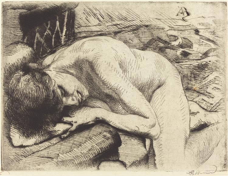 Model Asleep on the Floor, 1885 - Paul-Albert Besnard