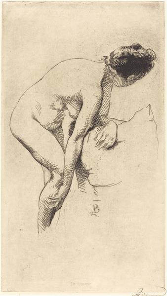 Nude Holding Her Leg, 1886 - Paul-Albert Besnard