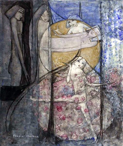 Woman Standing Behind the Sun - Frances MacDonald