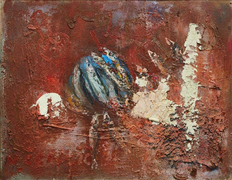Sardine on a red wrinkled surface, c.2002 - 2003 - Vjeran Čengić
