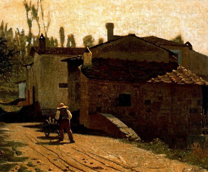 Milkman of Piagentina, 1864 - Giuseppe Abbati