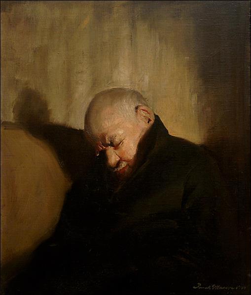 Portrait of Artist's Father Sleeping, c.1944 - Frank Mason