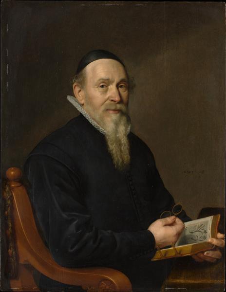 Portrait of a Man, Possibly a Botanist, 1641 - Давид Байи