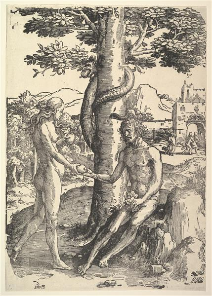 Fall of Man (Adam and  Eve) - Lucas van Leyden