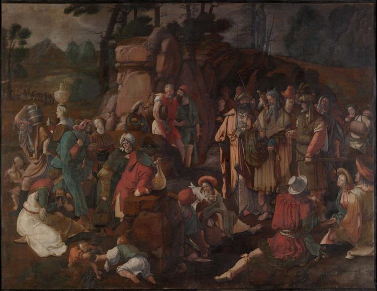 Moses and the Israelites After the Miracle of Water from the Rock, 1527 - Lucas van Leyden